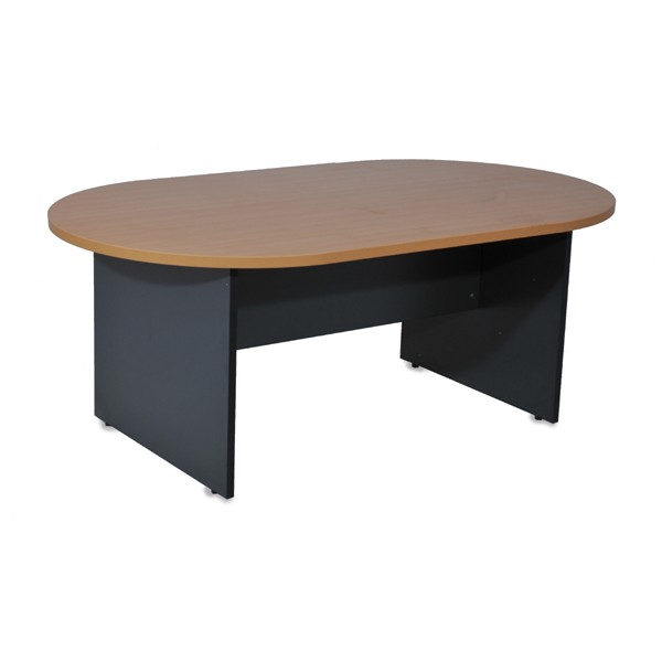 Table de r union ovale pi tement bois for Pietement de table en bois