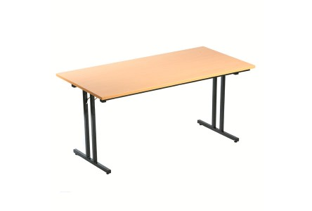 Table pliante l140 x p70 cm bureau d p t - Table de bridge pliante ...