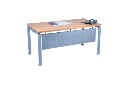BUREAU  DROIT PIETEMENT METALLIQUE PURE 160