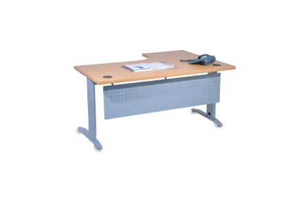 BUREAU  COMPACT 90°,PIETEMENT METALLIQUE METTRA