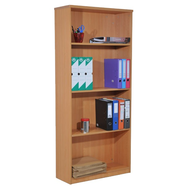 biblioth que en bois m lamin h180 x l79 x p30 cm bureau d p t. Black Bedroom Furniture Sets. Home Design Ideas