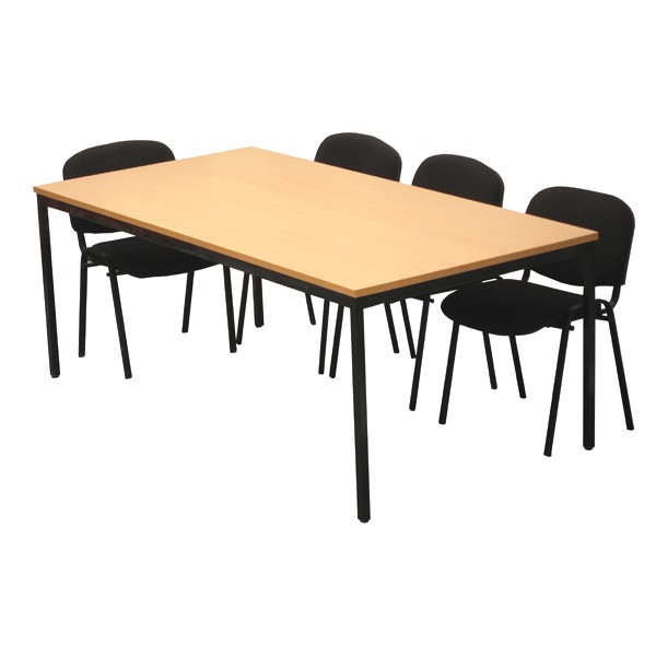 Table modulaire rectangulaire 200x100 cm - Service de table rectangulaire ...